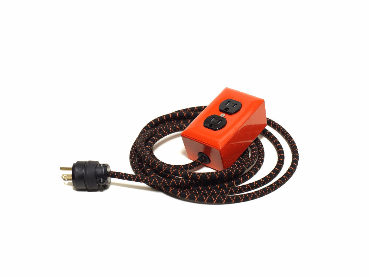 New! Extō Pumpkin Orange - A Modern Dual-Tamper-Resistant Outlet, 13-AMP Extension Cord