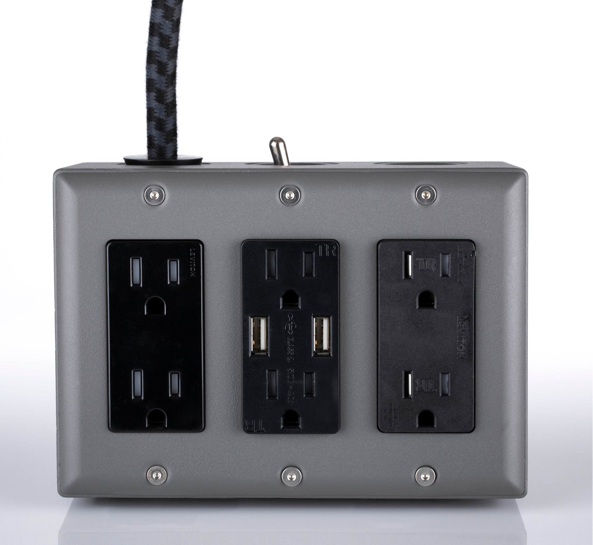 New! 6' Extō Surge 720 Smart Chip Surge-Protected Smart USB 6-Outlet Power Strip Humboldt Fog