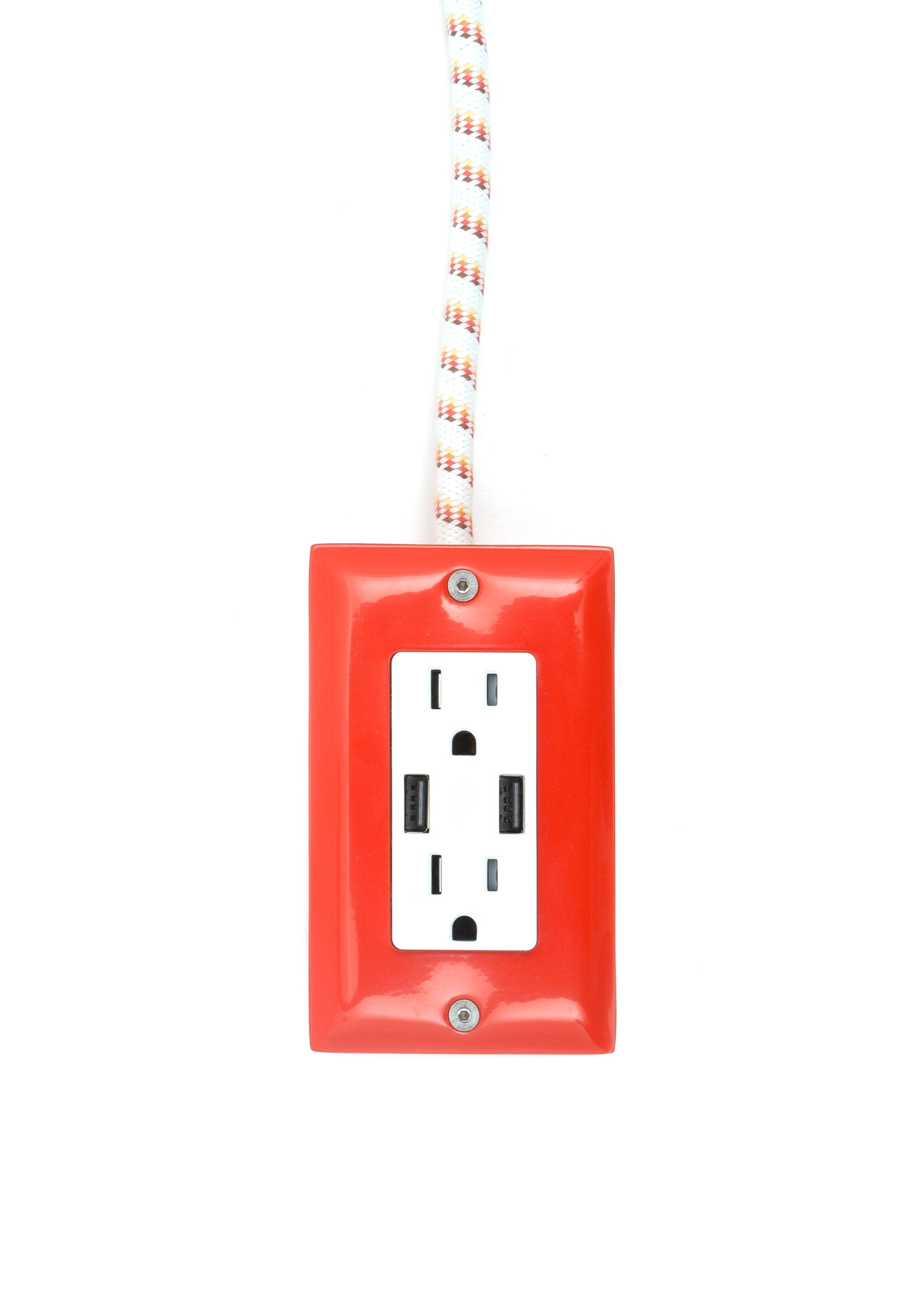 New! The First Smart Chip Extension Cord - 12' Extō Dual-USB, Dual-Outlet - Venice