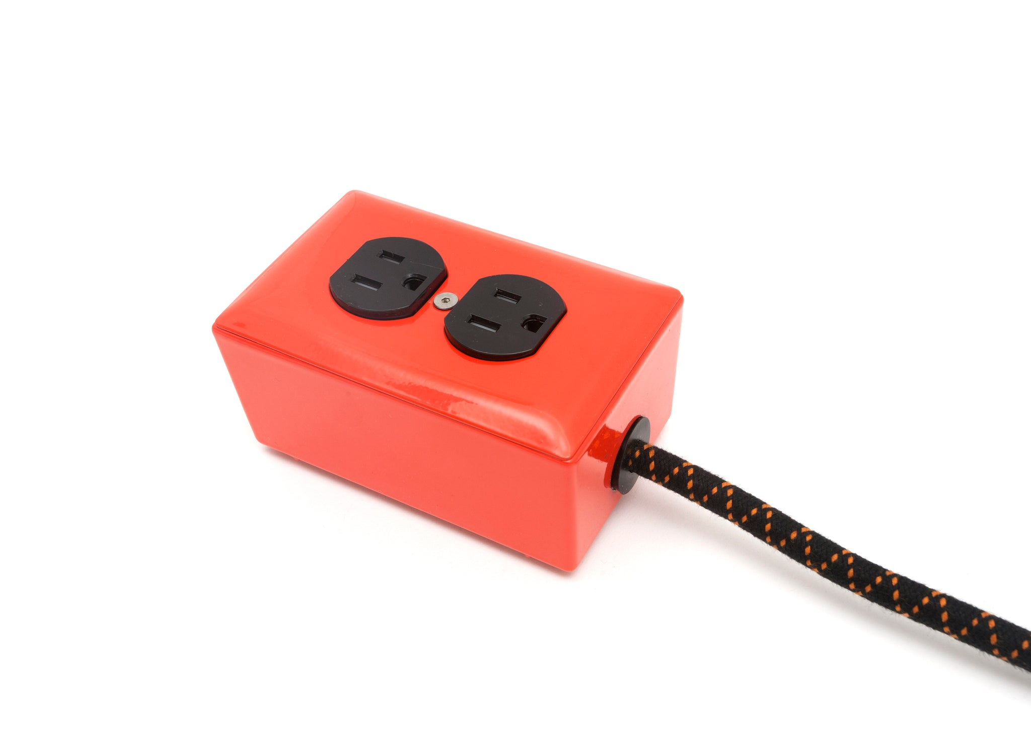 New! Extō Pumpkin Orange - A Modern Dual-Tamper-Resistant Outlet, 15-AMP Extension Cord