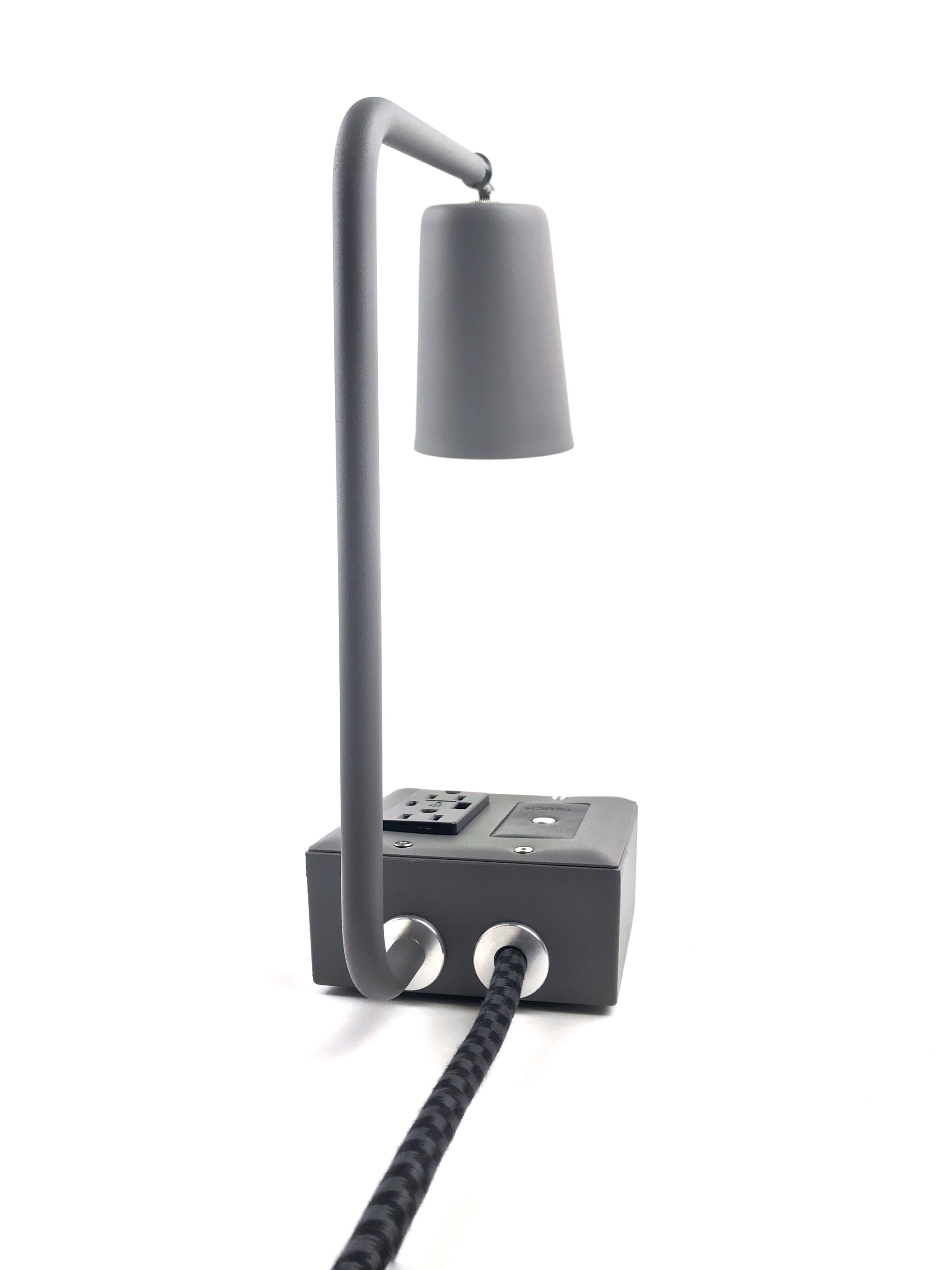 JAX Touch Smart USBC Surge-Protected Task Lamp Humboldt Fog Gray