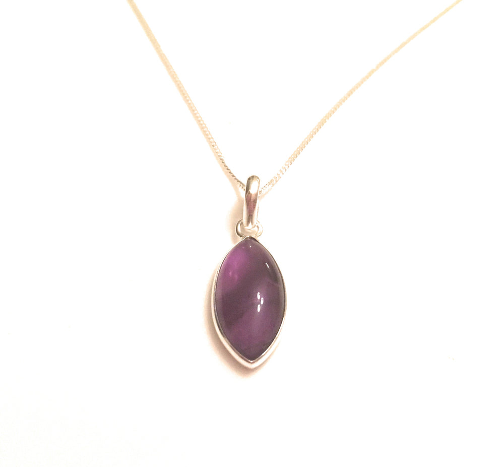 Marquise Amethyst Cabochon Pendant