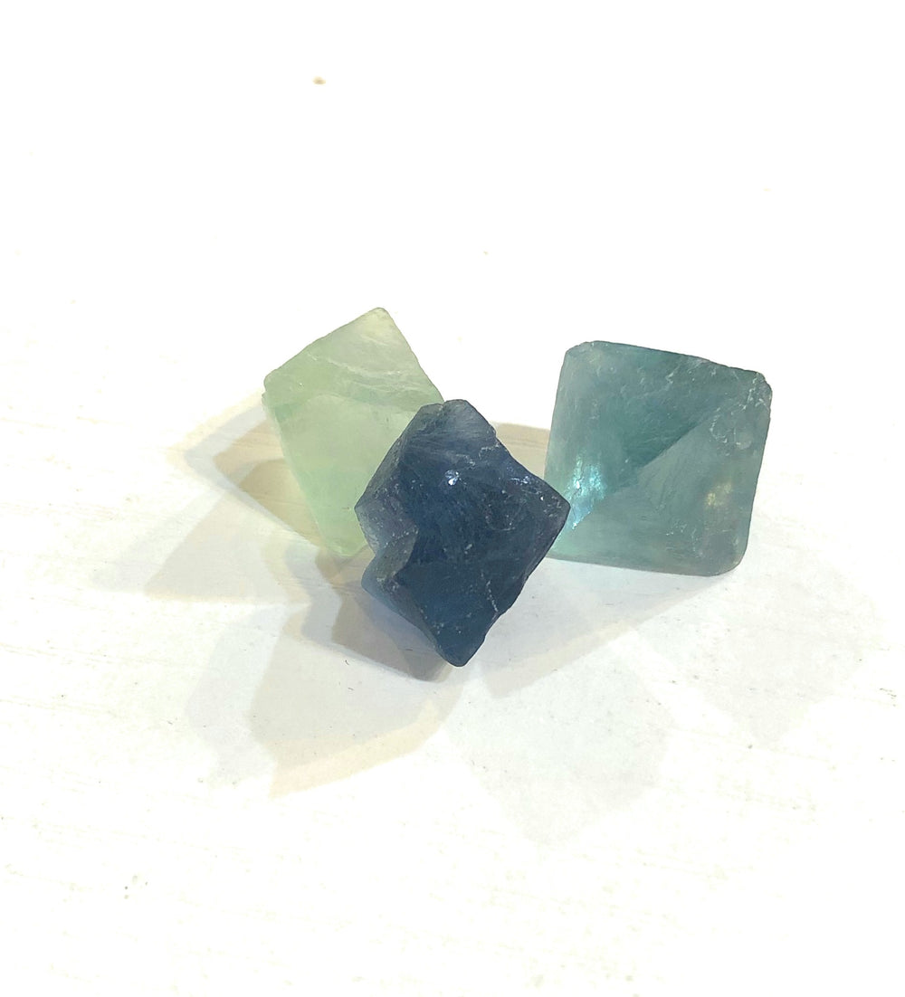 Fluorite Natural Octohedrons