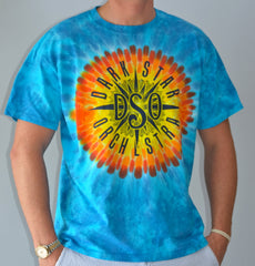 Sun Burst Dye Short Sleeves with Compass Logo