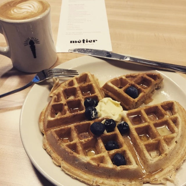 Metier Seattle Food Coffee Waffle Cafe