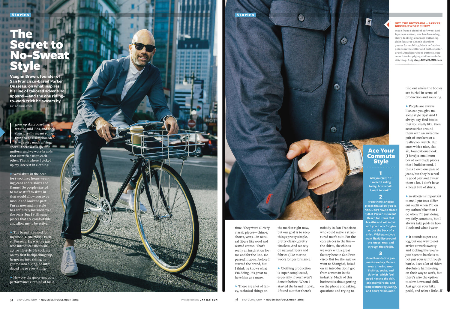 Parker Dusseau Functional Menswear Essentials Bicycling Magazine