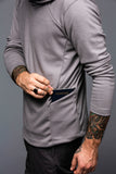 ArchiTec Carson Hoodie - Shark Long Sleeve Merino Tee- Parker Dusseau : Functional Menswear Essentials for the Always Ready Lifestyle. Based in San Francisco, California
