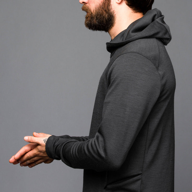 ArchiTec Carson Hoodie - Phantom Long Sleeve Merino Tee- Parker Dusseau : Functional Menswear Essentials for the Always Ready Lifestyle. Based in San Francisco, California
