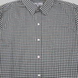 Five Day Wool / Cotton Button Up - Forrest Green Gingham Check