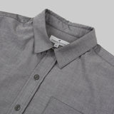 Five Day Wool / Cotton Button Up - Charcoal Work Shirt- Parker Dusseau : Functional Menswear Essentials for the Always Ready Lifestyle. Based in San Francisco, California