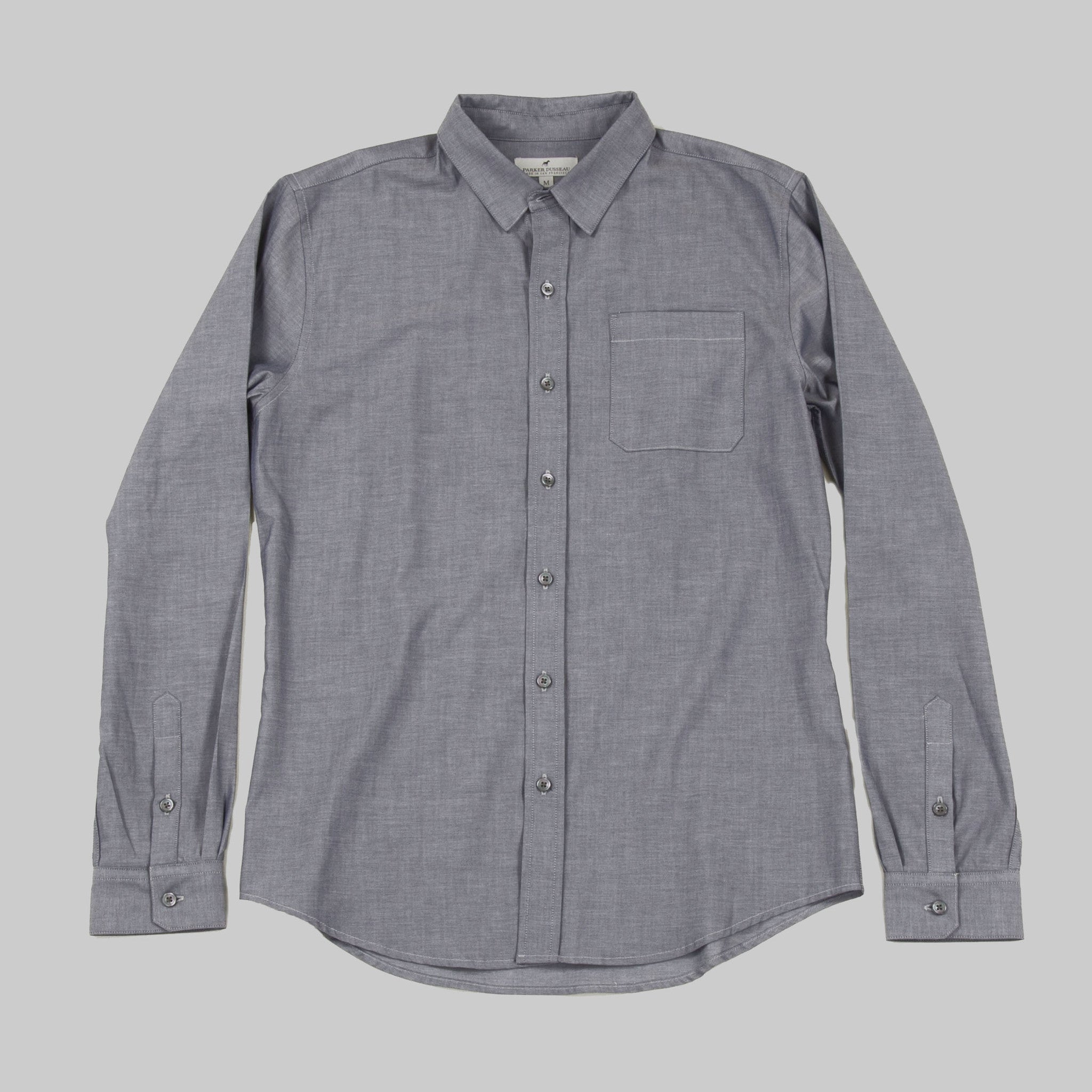Five Day Wool / Cotton Button Up - Indigo Dress Shirt- Parker Dusseau : Functional Menswear Essentials for the Always Ready Lifestyle. Based in San Francisco, California
