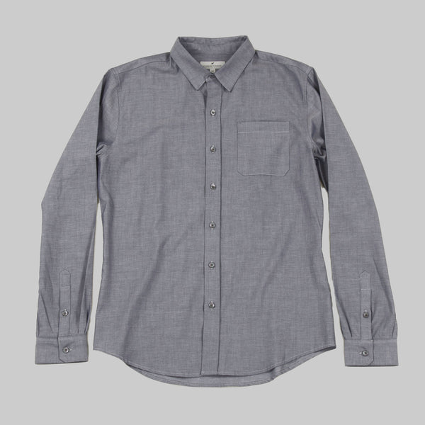 Five Day Wool / Cotton Button Up - Indigo