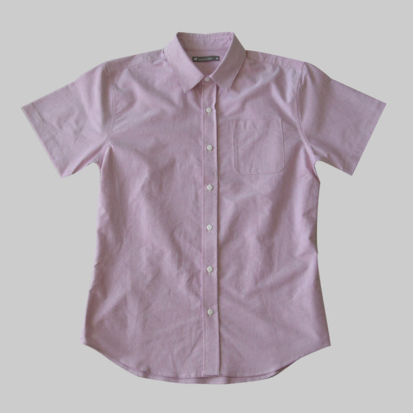 Short Sleeve Oxford Button Up - Cardinal