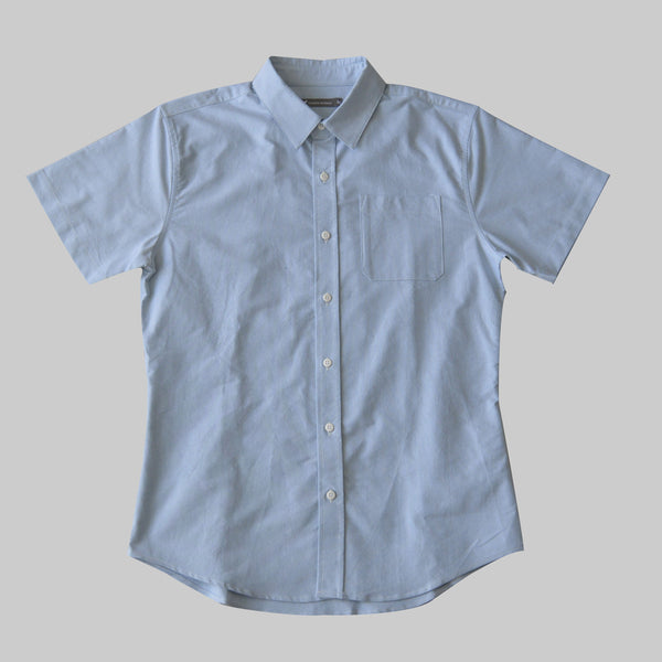 Short Sleeve Oxford Button Up - Sea Foam