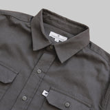 Five Day Wool / Cotton Heavyweight Work Shirt - Charcoal