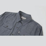Lightweight Stretch Cotton Classic Work Shirt - Indigo Fleck Work Shirt- Parker Dusseau : Functional Menswear Essentials for the Always Ready Lifestyle. Based in San Francisco, California