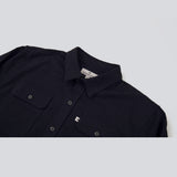 Five Day Wool / Cotton Heavyweight Work Shirt - Navy Work Shirt- Parker Dusseau : Functional Menswear Essentials for the Always Ready Lifestyle. Based in San Francisco, California