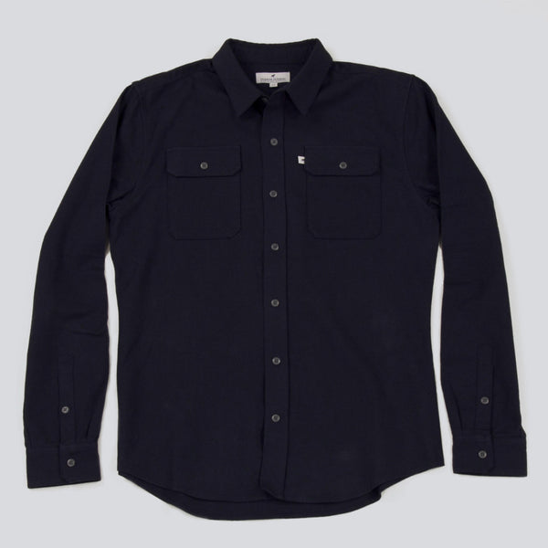 Five Day Wool / Cotton Heavyweight Work Shirt - Navy