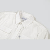 Lightweight Stretch Cotton Classic Work Shirt - Ivory Fleck Work Shirt- Parker Dusseau : Functional Menswear Essentials for the Always Ready Lifestyle. Based in San Francisco, California