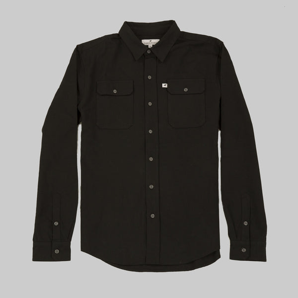 Five Day Wool / Cotton Heavyweight Work Shirt - Black