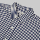 Five Day Wool / Cotton Button Up - Navy Gingham Check