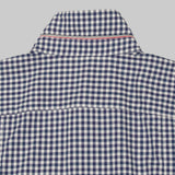 Five Day Wool / Cotton Button Up - Navy Gingham Check Dress Shirt- Parker Dusseau : Functional Menswear Essentials for the Always Ready Lifestyle. Based in San Francisco, California