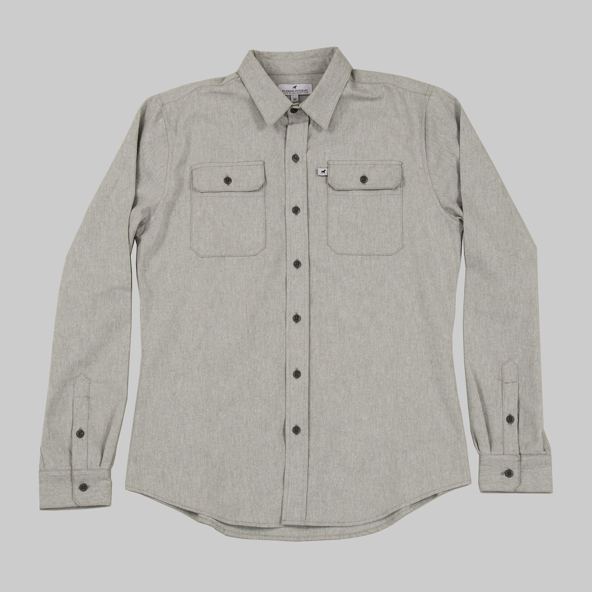 Classic Work Shirt - Sage Work Shirt- Parker Dusseau : Functional Menswear Essentials for the Always Ready Lifestyle. Based in San Francisco, California