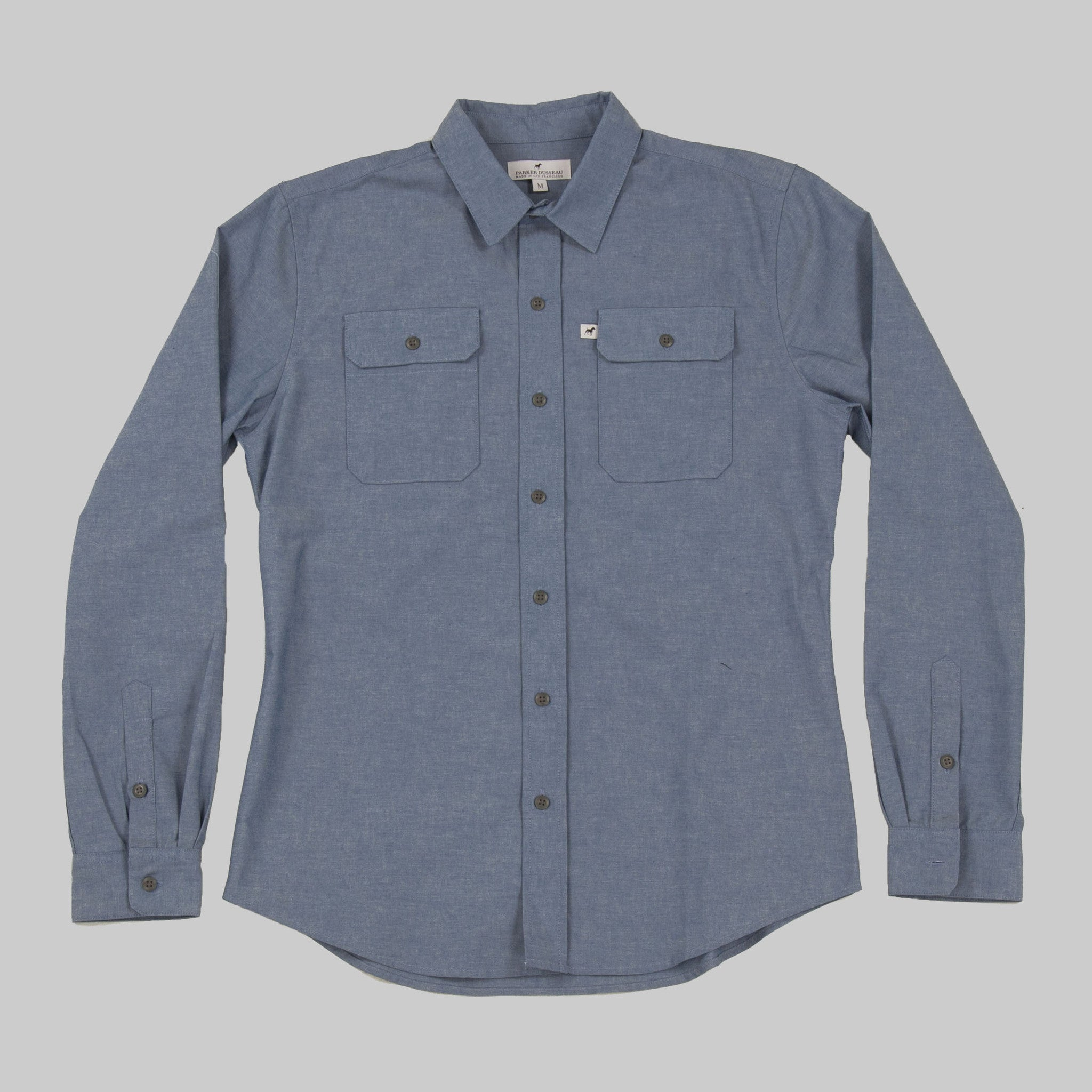 Classic Work Shirt - Indigo Work Shirt- Parker Dusseau : Functional Menswear Essentials for the Always Ready Lifestyle. Based in San Francisco, California