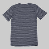 Merino Wool Tee - Navy Stripe Short Sleeve Merino Tee- Parker Dusseau : Functional Menswear Essentials for the Always Ready Lifestyle. Based in San Francisco, California