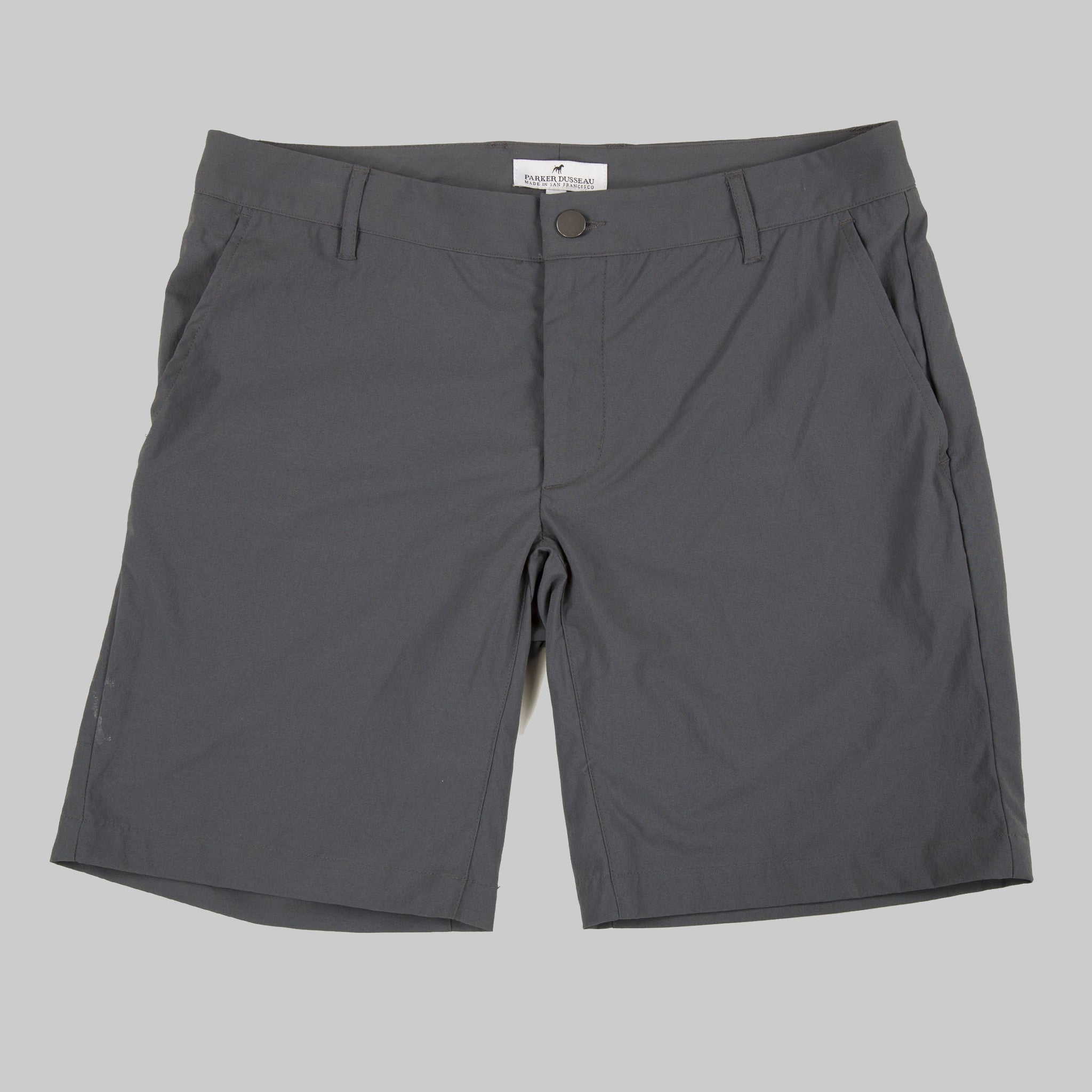 All Around Short - Charcoal Short- Parker Dusseau : Functional Menswear Essentials for the Always Ready Lifestyle. Based in San Francisco, California