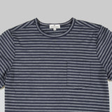 Merino Wool Tee - Navy Stripe