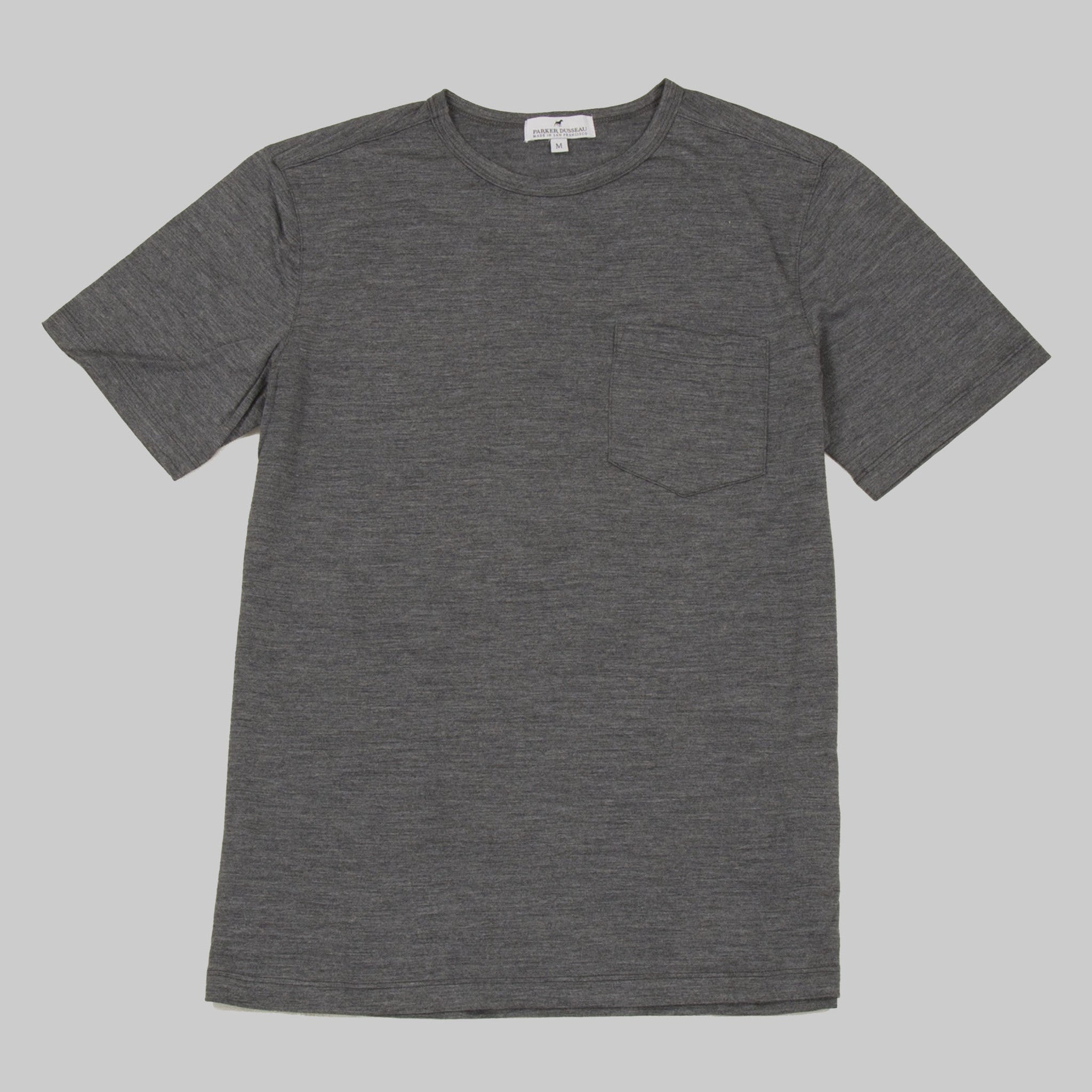 Merino Wool Tee - Platinum Short Sleeve Merino Tee- Parker Dusseau : Functional Menswear Essentials for the Always Ready Lifestyle. Based in San Francisco, California