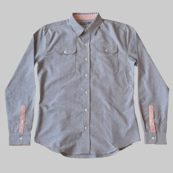 Limited Edition Giro d'Italia Oxford Work Shirt - Carbon Grey