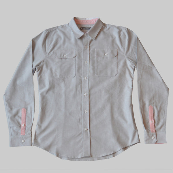 Limited Edition Giro d'Italia Oxford Work Shirt - Smoke Grey