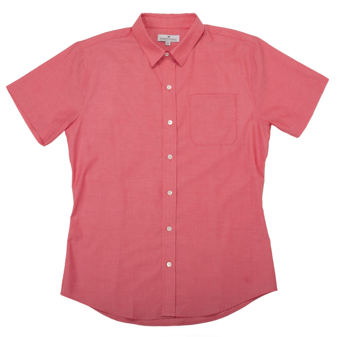Short Sleeve Commuter Dress Shirt - Salmon Dress Shirt, Short Sleeve- Parker Dusseau : Functional Menswear Essentials for the Always Ready Lifestyle. Based in San Francisco, California