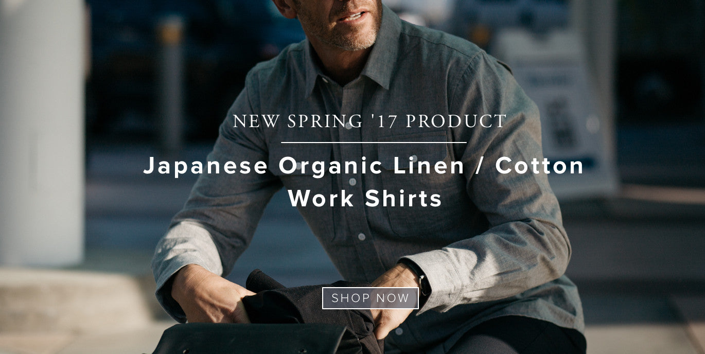 Parker Dusseau Japanese Organic Linen Cotton Work Shirt Urban Cycling Apparel