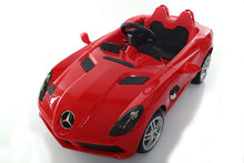 Load image into Gallery viewer, Mercedes Benz SLR 12V Kids Ride On Car With Remote Control DELUXE MODEL WITH UPGRADED RUBBER TIRES AND UPGRADED LEATHER SEAT