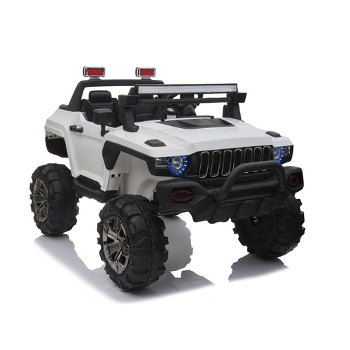 PREORDER 12V POLICE TRUCK 2 SEATER KIDS RIDE ON CAR WITH REMOTE CONTROL