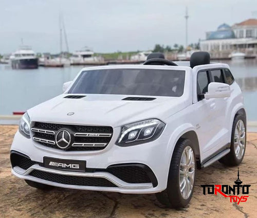 Mercedes Benz GLS63 12V 2 Seater Kids Ride On Car With Remote DELUXE MODEL WITH LEATHER SEATS AND RUBBER TIRES