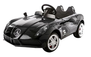 Mercedes Benz SLR 12V Kids Ride On Car With Remote Control DELUXE MODEL WITH UPGRADED RUBBER TIRES AND UPGRADED LEATHER SEAT