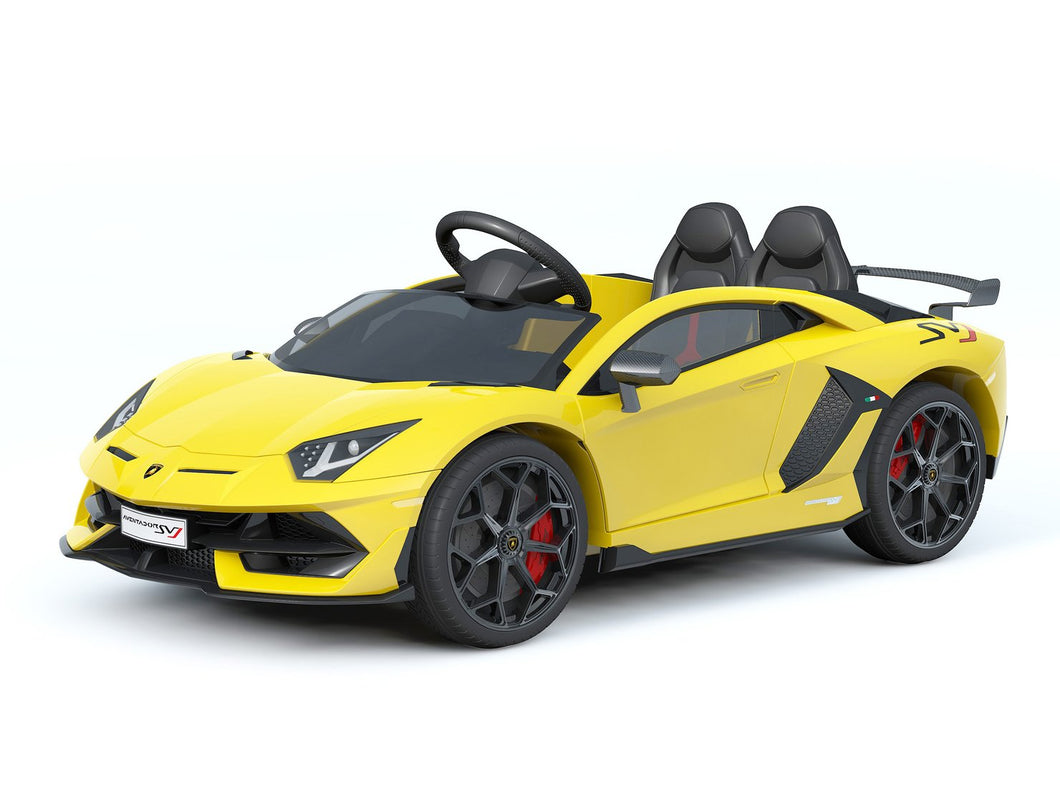 Lamborghini Aventador SVJ YELLOW 12V Kids Ride On Car With Remote Control