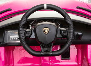 Lamborghini Aventador SVJ PINK 12V Kids Ride On Car With Remote Control