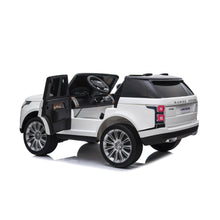 Load image into Gallery viewer, Range Rover HSE 2 Seater 12V Kids Ride On Car With Remote Control DELUXE MODEL WITH LEATHER SEATS AND RUBBER TIRES