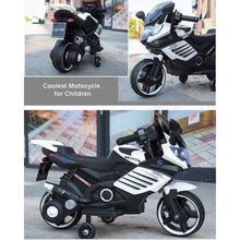 Load image into Gallery viewer, Kids Ride On Electric Motorbike (with removable training wheels) Ages 1-4