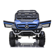 Load image into Gallery viewer, Mercedes Benz Unimog 2 Seater 12V Kids Ride On Car With Remote Control DELUXE MODEL WITH LEATHER SEATS AND RUBBER TIRES