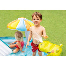 Load image into Gallery viewer, Kids Inflatable Gator Kiddie Pool with Slide