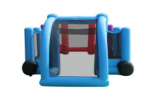 Happy Hop Inflatable 3in1 Soccer Field - Basketball - Volleyball