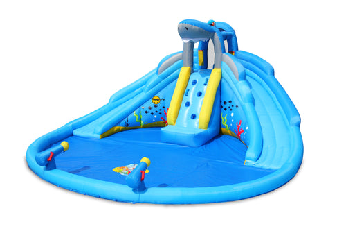 PREORDER HAPPY HOP SHARK POOL WATER SLIDE