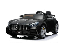 Load image into Gallery viewer, Mercedes Benz AMG GTR 12V 2 Seater Kids Ride On Car With Remote Control DELUXE MODEL WITH LEATHER SEATS AND RUBBER TIRES