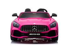 Load image into Gallery viewer, PINK Mercedes Benz AMG GTR 12V 2 Seater Kids Ride On Car With Remote Control DELUXE MODEL UPGRADED LEATHER SEATS AND UPGRADED RUBBER TIRES